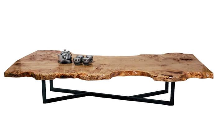 2 שולחן סלון עץ