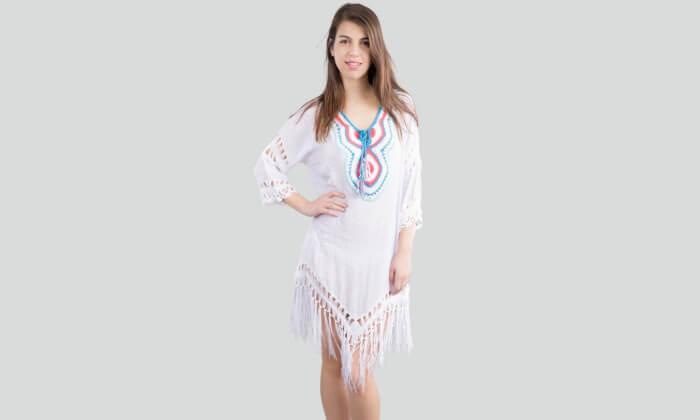 2 שמלת חוף בסריגת קרושה