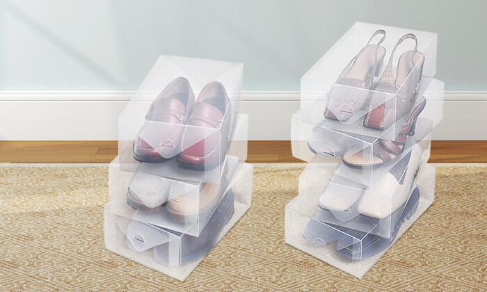 3 עשר קופסאות אחסון לנעליים