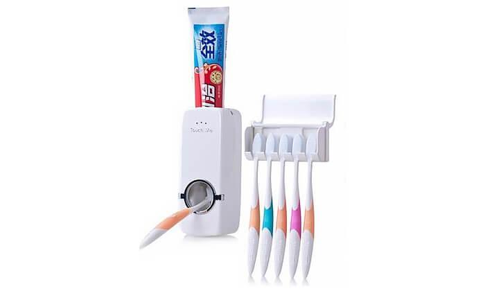 3 דיספנסר ומתקן למברשות שינייםTouch Me