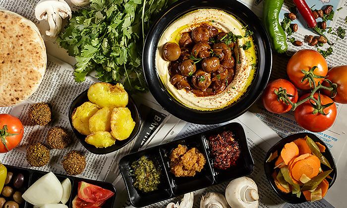 4 מנת חומוס במסעדת בית הפול הכשרה, אשדוד