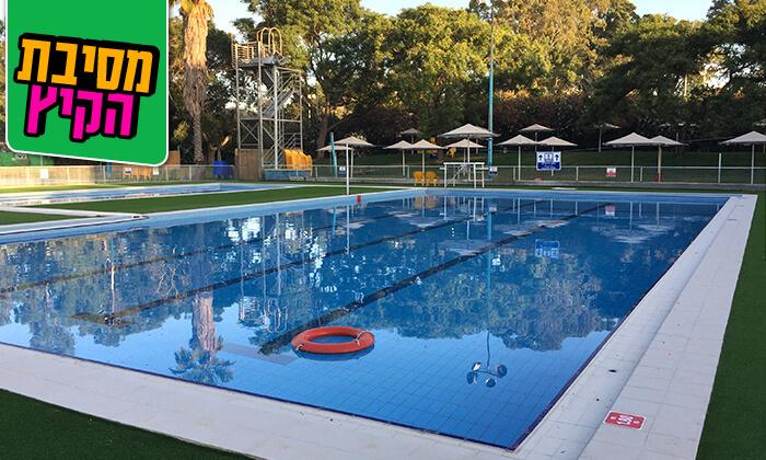 3 כניסה לבריכת השחייה בפרדס חנה