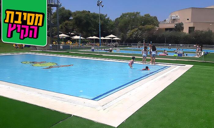6 כניסה לבריכת השחייה בפרדס חנה