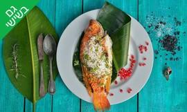 ארוחת דגים במסעדת פלמידה