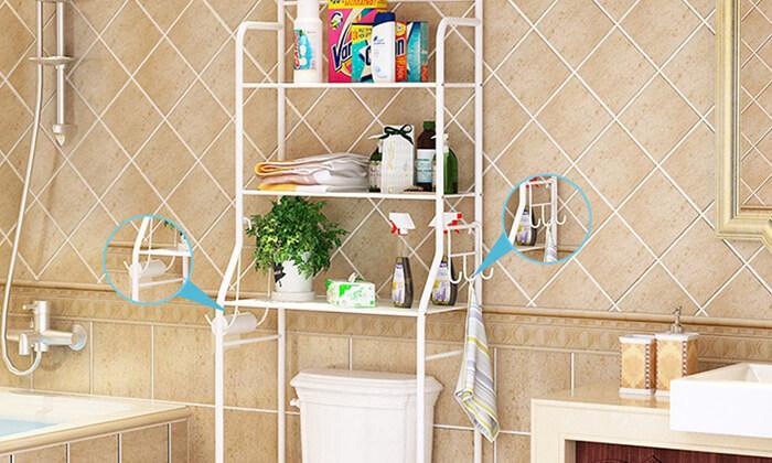 5 יחידת מדפים לחדר האמבטיה