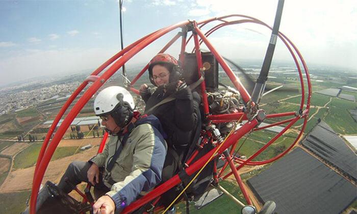 2 טיסה בטרקטורון מעופף ליד נתניה