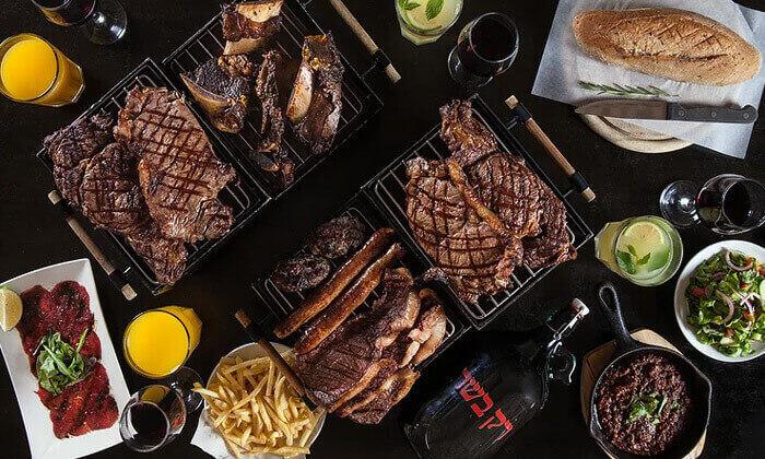 14 מחיר מיוחד ל-24 שעות בלבד: ארוחה זוגיתברשת רק בשר
