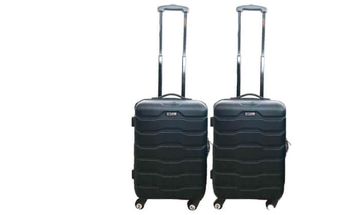 7 זוג מזוודות טרוליswiss club
