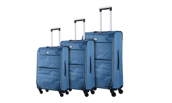 2 סט שלוש מזוודות קלות קרפיסה - carpisa