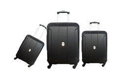 סט שלוש מזוודות קלות