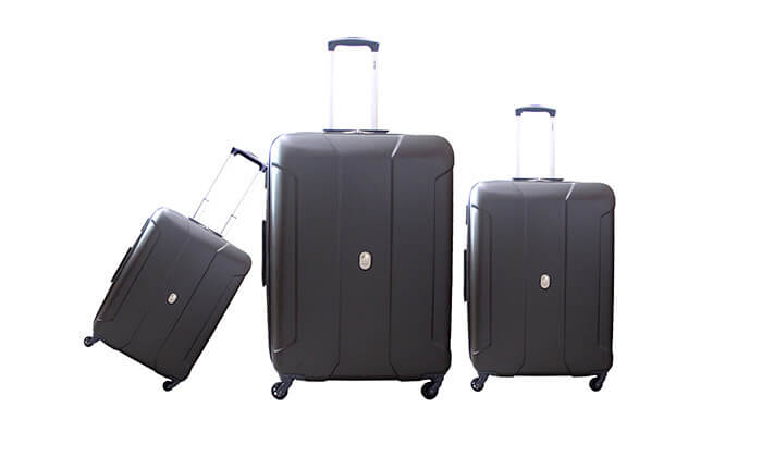 3  סט שלוש מזוודות קלות