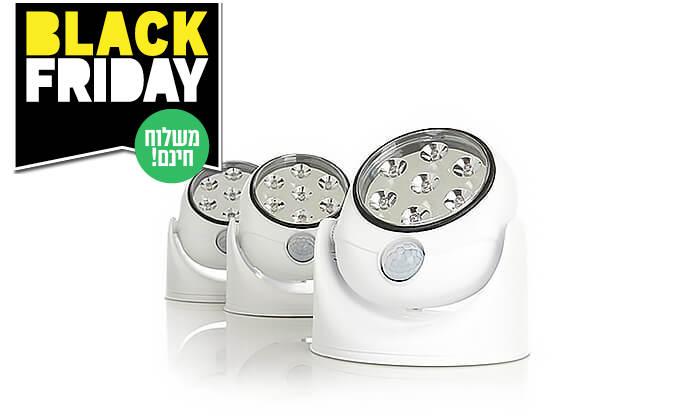 3 זוג תאורות חיישן אוטומטיות - משלוח חינם