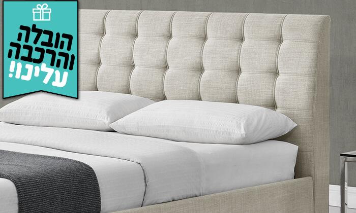 3 מיטה זוגית מרופדת HOME DECOR - הובלה והרכבה חינם!