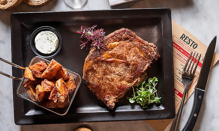 9 ארוחת שף זוגית במסעדת RESTO הכשרה בתל אביב