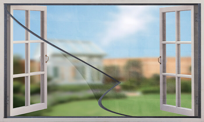 4 רשת נגד יתושים וזבובים לדלת או לחלון