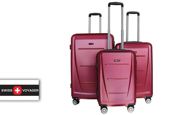 סט 3 מזוודות קשיחותSWISS