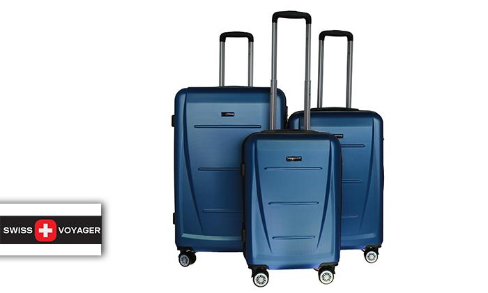 2 סט 3 מזוודות קשיחותSWISS