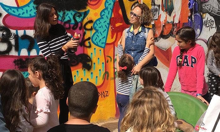 5 סדנת גרפיטי לכל המשפחה, שכונת פלורנטין תל אביב