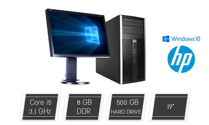 2  מחשב נייח HP עם מסך 19 אינץ'', מקלדת ועכבר מתנה