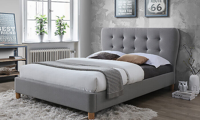 מגניב מיטת ברוחב וחצי מרופדת HOME DECOR - משלוח חינם לחגים! | גרו (גרופון) NU-74