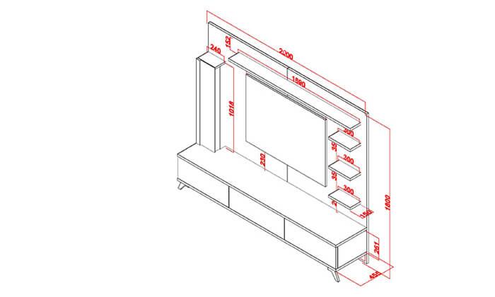 4 מערכת קיר לסלוןHOME DECOR