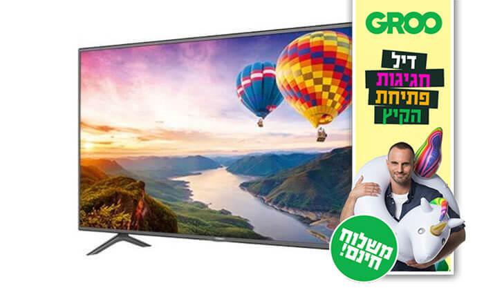 2 דיל חגיגת קיץ: טלוויזיה SMART LED TV 4K HISENSE, מסך 55 אינץ' - משלוח חינם!