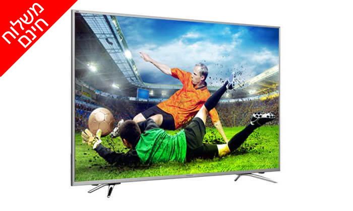 2 טלוויזיה חכמה ULED 4K HISENSE, מסך 55 אינץ' - כולל הובלה והרכבה חינם!