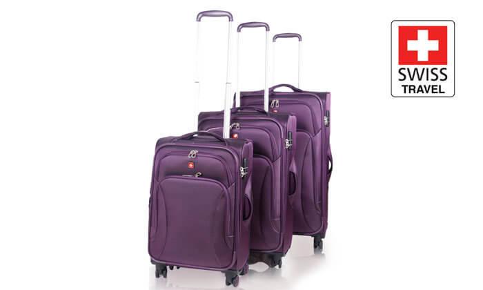 מגניב סט מזוודות swiss travel | גרו (גרופון) UZ-92