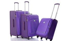 זוג מזוודותקשיחות וקלות