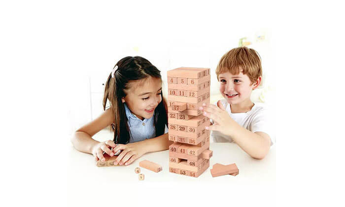 6 משחק ג'נגה מעץ