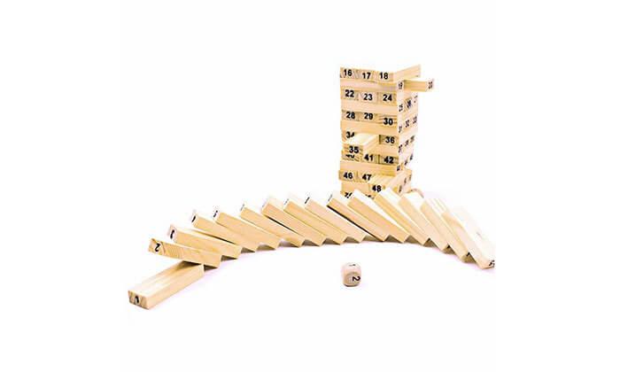 8 משחק ג'נגה מעץ