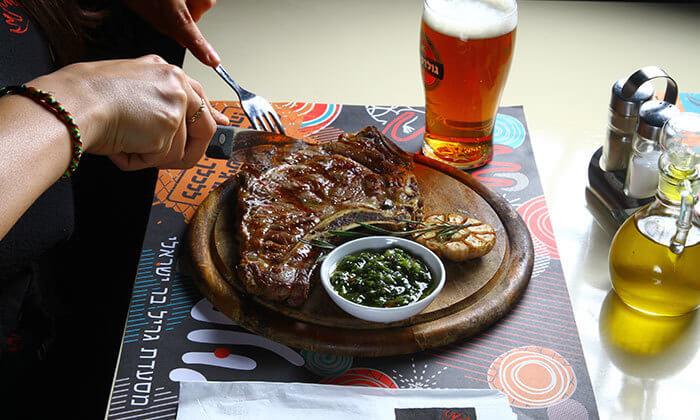 2 ארוחה זוגית בשרית במסעדת בולמוס- גריל בר ישראלית כשרה ,אזור תעשייה תנובות