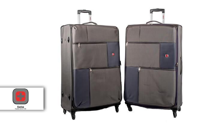 2 מזוודה משפחתיתSWISS LITE בגודל 32 אינץ'