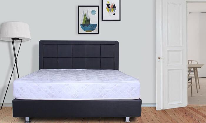 4 מיטה מרופדת עם מזרן (דגם 6012), כולל ארגז מצעים מתנה