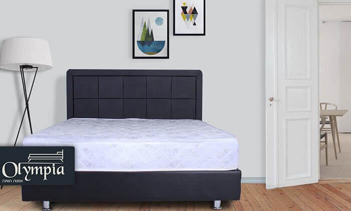 2 מיטה מרופדת עם מזרן (דגם 6012), כולל ארגז מצעים מתנה