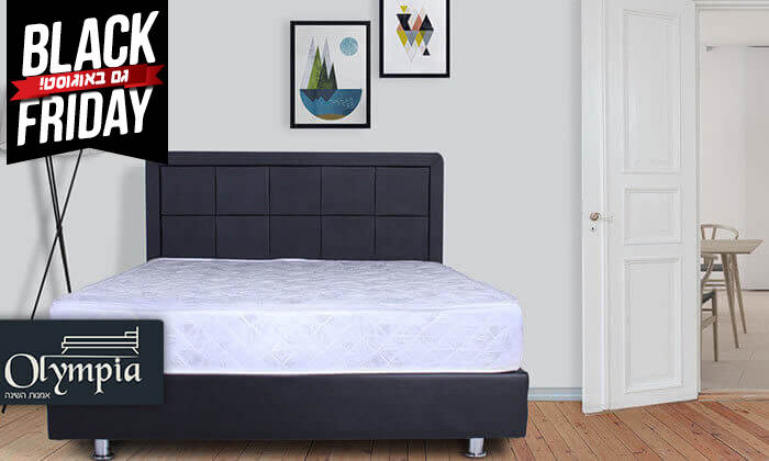 2 מיטה מרופדת עם מזרן, כולל ארגז מצעים מתנה