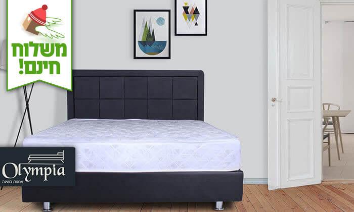 2 מיטה מרופדת עם מזרן (דגם 6012), כולל ארגז מצעים מתנה - הובלה והרכבה חינם!