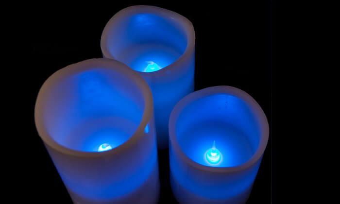 3 סט נרות לד מעוצבים