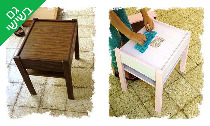 4 השתתפות בסדנה לחידוש רהיטים, חיפה