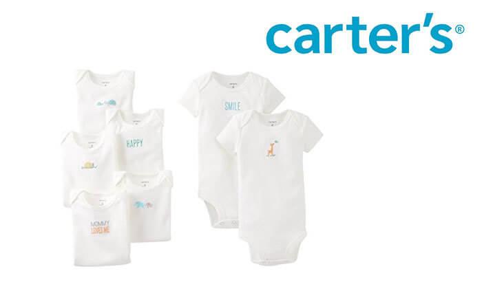 2 מארז 7 בגדי גוף לתינוקות Carter's