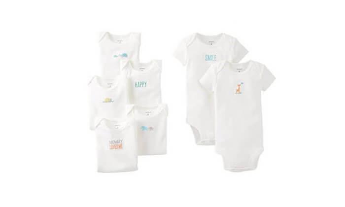 3 מארז 7 בגדי גוף לתינוקות Carter's