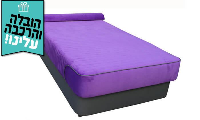 4 מיטת נוער עם ראש מתכוונן - הובלה והרכבה חינם!