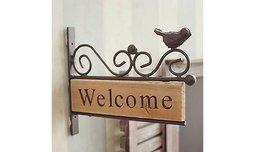 שלט WELCOME לכניסה לבית