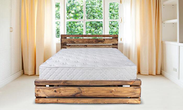 4 מיטה זוגית מעץ מלא עם מזרן אורתופדי - הובלה והרכבה חינם!