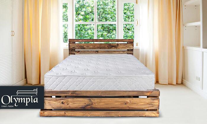 3 מיטה זוגית מעץ מלא עם מזרן אורתופדי - הובלה והרכבה חינם!
