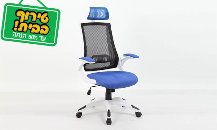 6 כסא מנהלים אורטופדי עם גב רשת