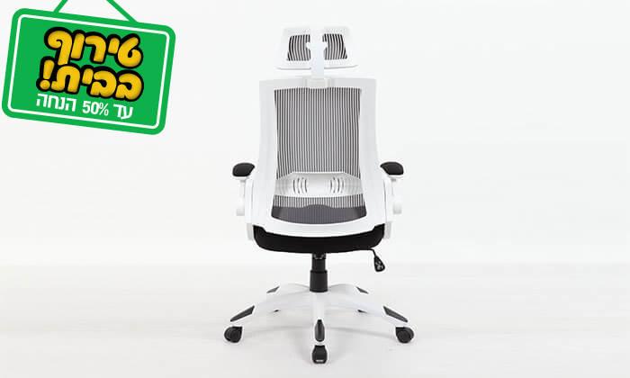 8 כסא מנהלים אורטופדי עם גב רשת