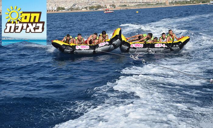 3 שייט על סירת טורנדו ואבובים, חוף נביעות אילת