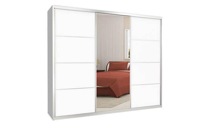 6 ארון הזזה כרמל, 3 דלתות עם מראה