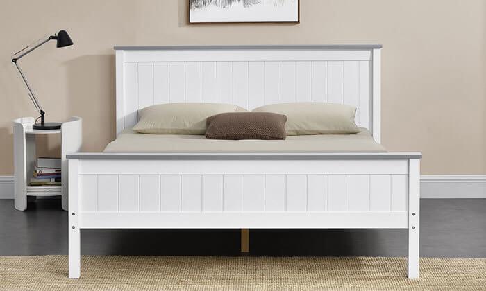 5 מיטה זוגית מעץ מלא HOME DECOR
